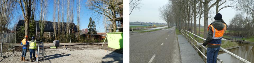 Watersnip druk met bomeninspectie langs wegen en op bouwterreinen